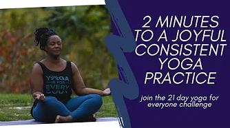21-day yoga challenge graphic.