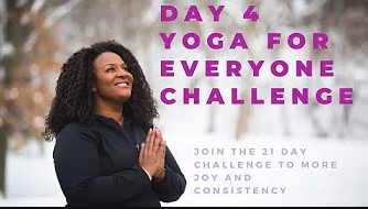 Day 4 of the Yoga For Everyone challenge graphic.