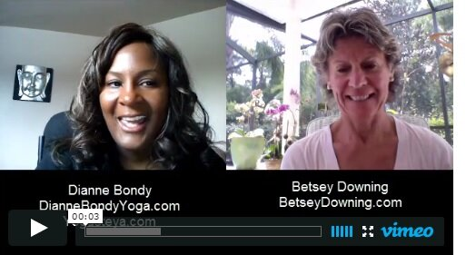 Dianne talks to Betsey Downing.